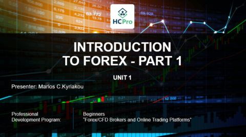 PART 1 – INTRODUCTION  TO FOREX