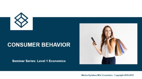 Consumer Behaviour – Level 1 Economics