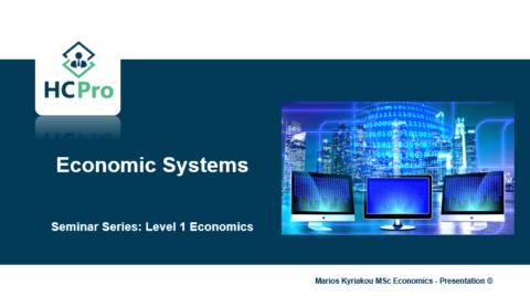 3. Economic Systems – Level 1 Economics