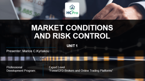 PART 1 – MARKET CONDITIONS AND RISK CONTROL